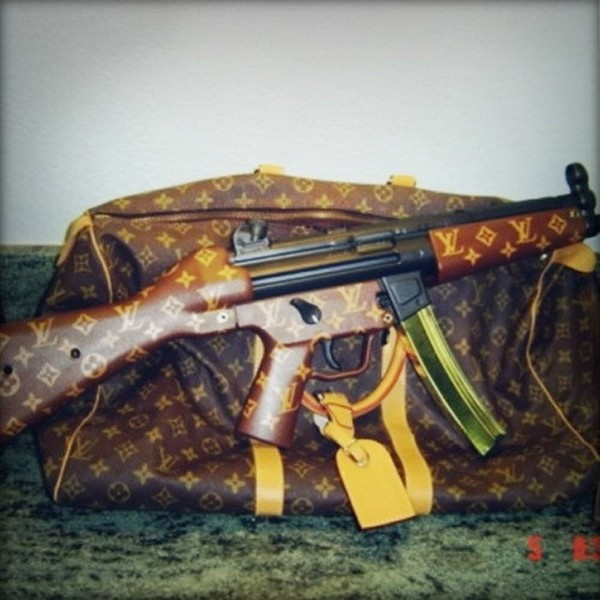 35 Things That Shouldn't Be Louis Vuitton-Monogrammed - Louis Vuitton assault rifle photo
