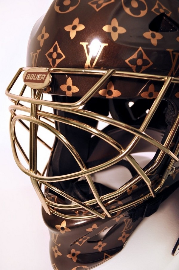 35 Things That Shouldn't Be Louis Vuitton-Monogrammed - Louis Vuitton hockey goalie helmet photo