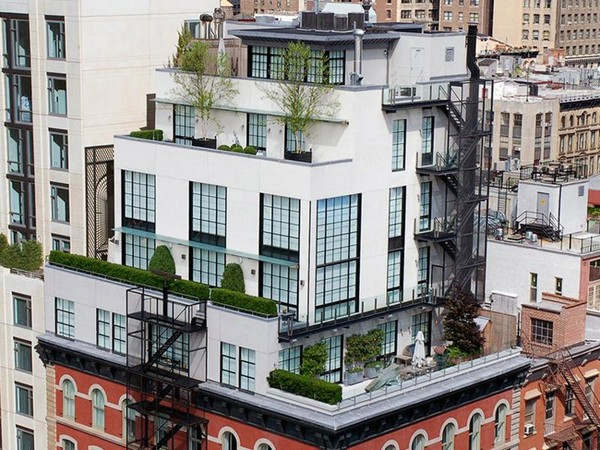 Five story tribeca penthouse for sale at 28 million for Real estate in tribeca