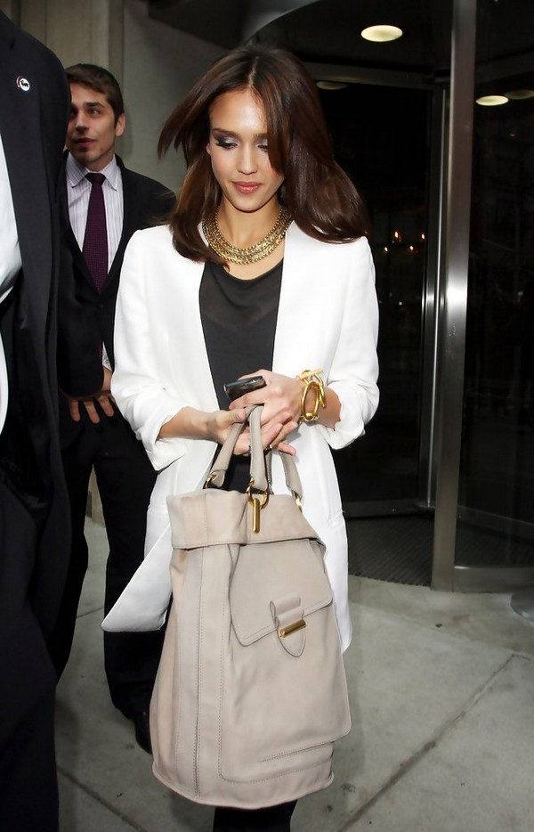 Luxury Trends - Nude Color Handbag - Jessica Alba nude color tote bag photo 1