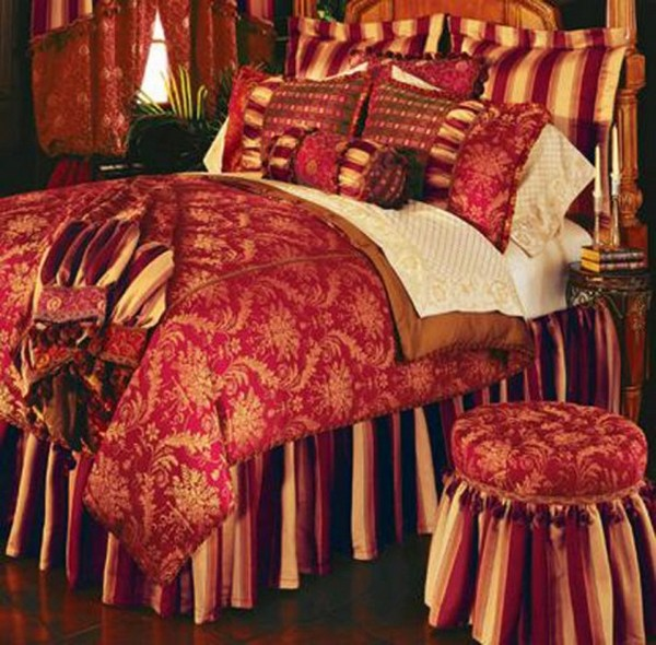 luxury bedding with eastern accents and bold colors elegant red eastern accent bedding