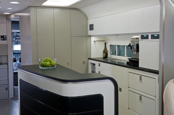BBJ Interior - One could get a lot of good cooking done in this kitchen in the BBJ 737