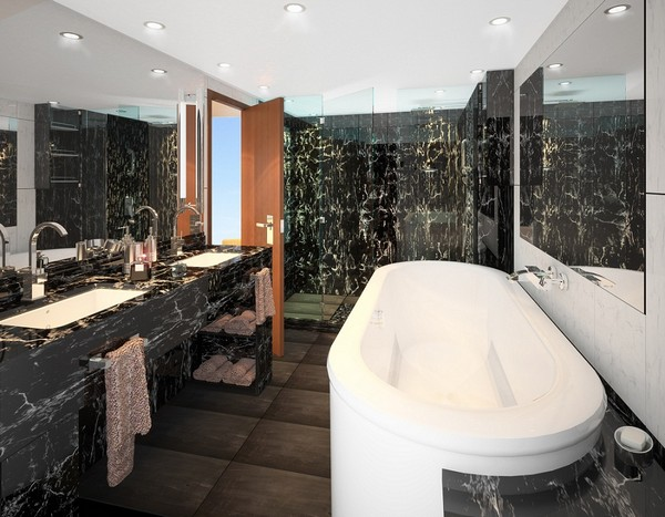 Penthouse Spa Suite – bathroom, aboard Seabourn Quest