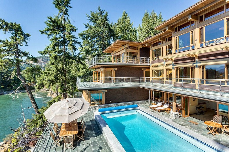 ,800,000 West Vancouver Palace - the only villa in North America with its own yacht garage 2