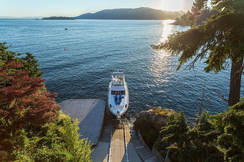 ,800,000 West Vancouver Palace - the only villa in North America with its own yacht garage 6