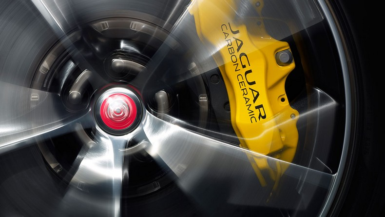 Carbon Ceramic Brakes with Yellow Calipers