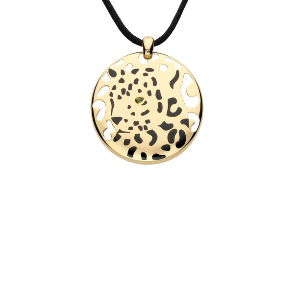 Panthre de cartier necklace collection luxury pictures cartier panthre pendant in yellow gold tsavorite lacquer 7800 mozeypictures Image collections