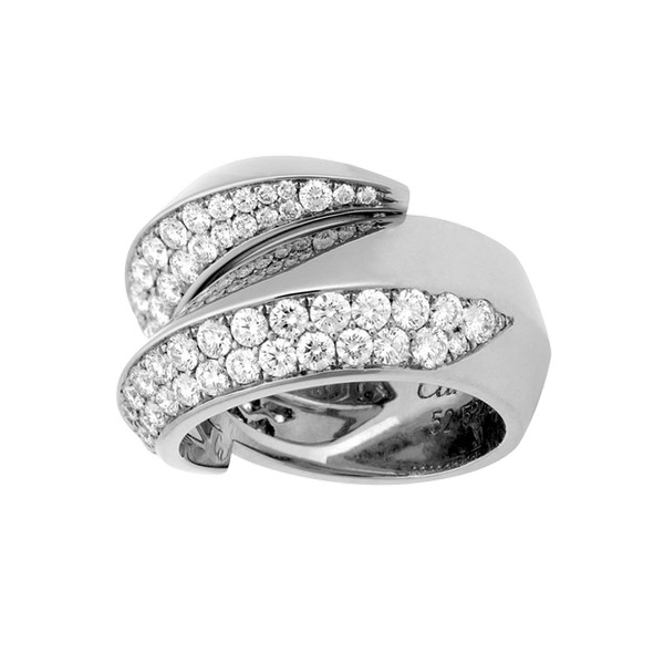 Cartier Panthère ring in white gold, diamonds (,500)