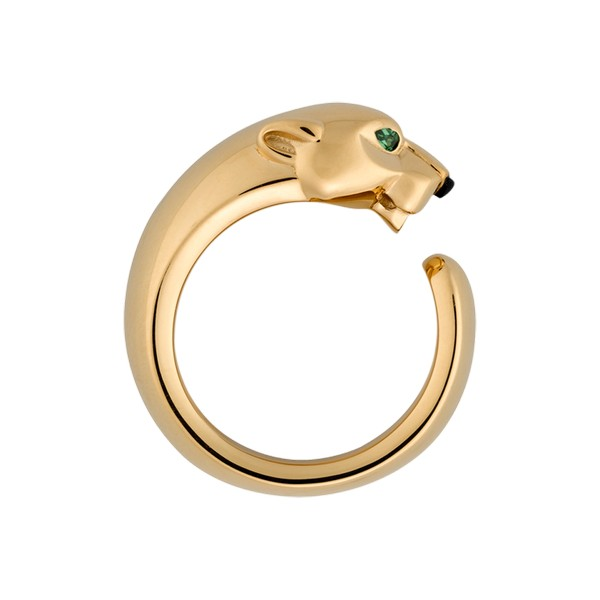 Cartier Panthère ring in yellow gold, onyx, tsavorite (,050)