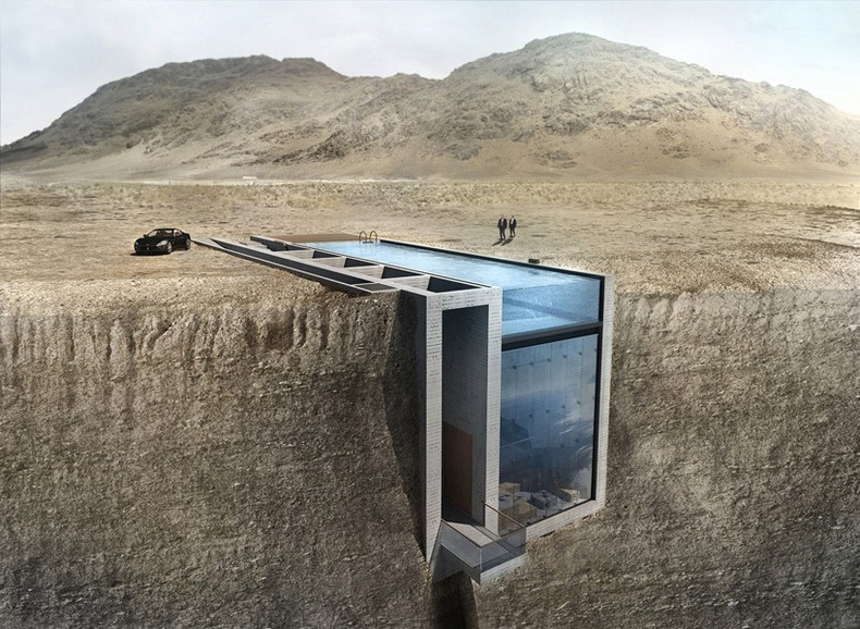 Casa Brutale - a conceptual cliffside house on the Aegean Sea
