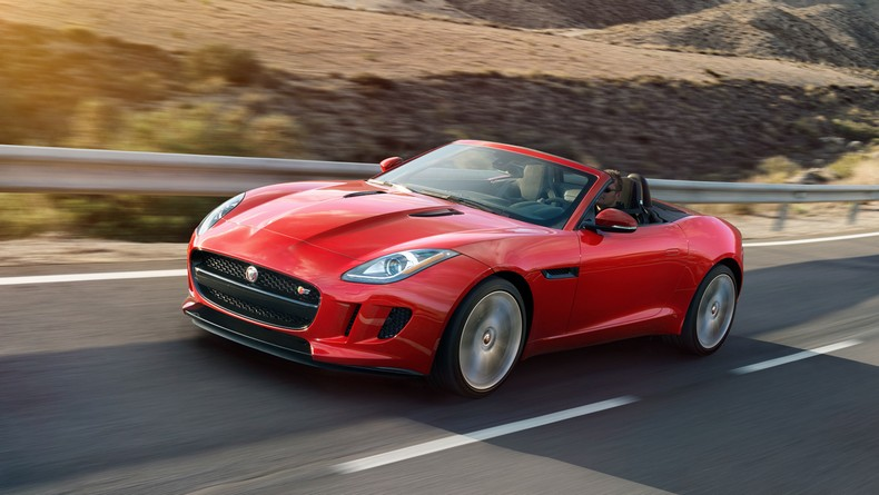F-TYPE S Convertible in Caldera Red with Jet Black seats