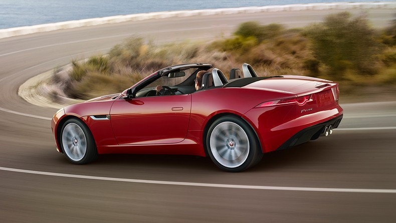 F-TYPE S Convertible shown in Salsa Red