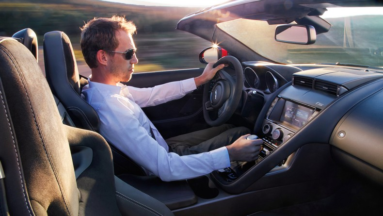 F-TYPE S Convertible with Manual Transmission delivering 380 HP