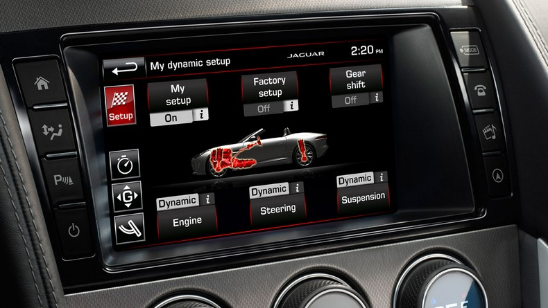 F-TYPE S and R models feature a Configurable Dynamic Mode