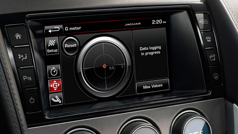 F-TYPE S and R models feature a standard 8-inch Touch-screen with Configurable Dynamic Mode