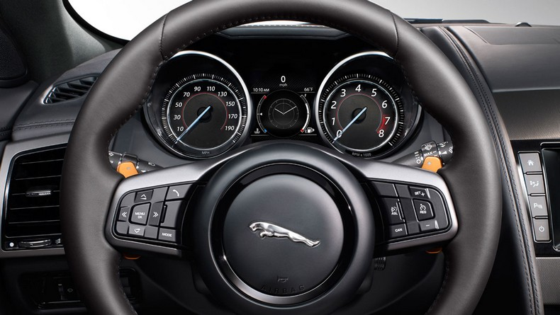 F-TYPE S with Ignis-colored paddle shifters