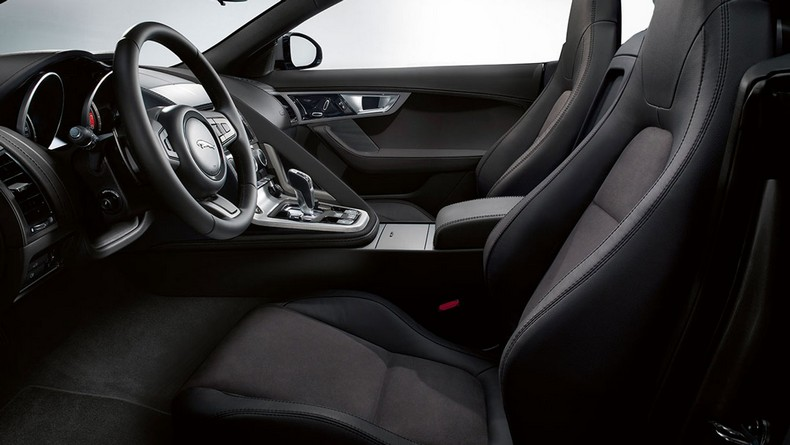 F-TYPE S with Jet leather Sports seat with Suedecloth inserts