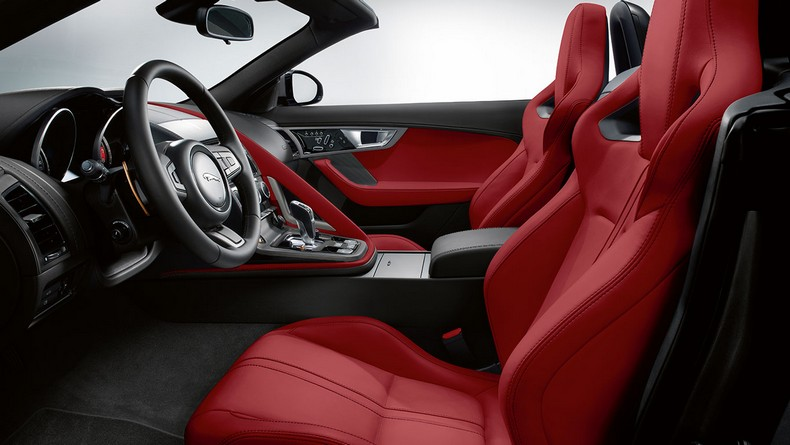 F-TYPE S with Red Premium leather Performance seats