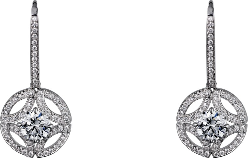 Galanterie de Cartier earrings in white gold, diamonds