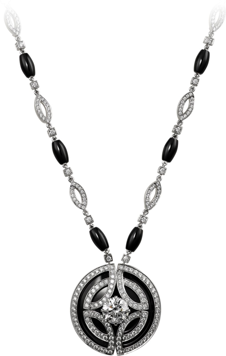Galanterie de Cartier necklace in white gold, black lacquer, onyx, diamonds picture