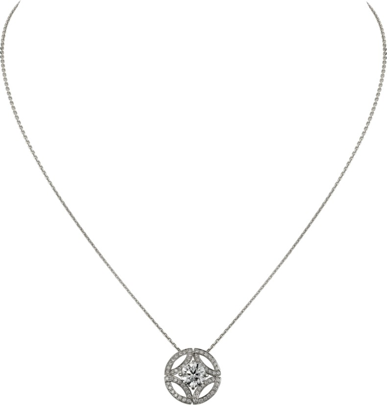 Galanterie de Cartier necklace in white gold, diamonds image