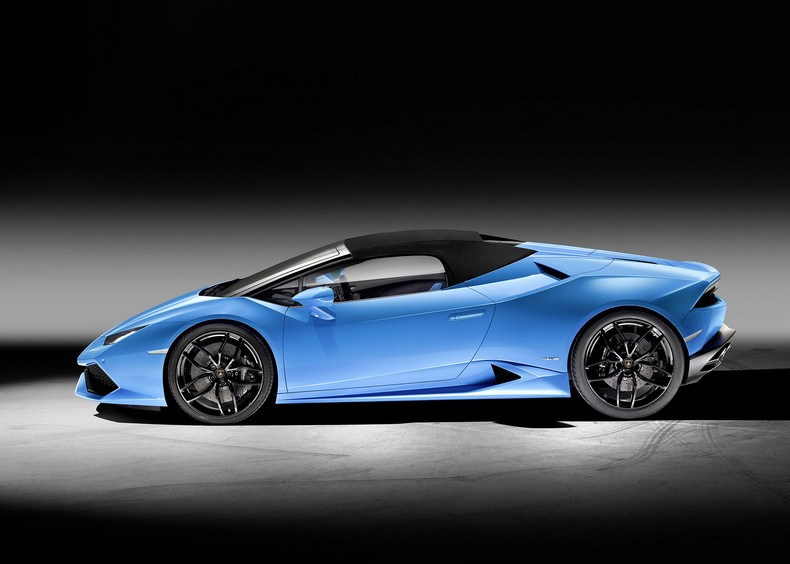 Lamborghini Huracan Spyder side view (closed)