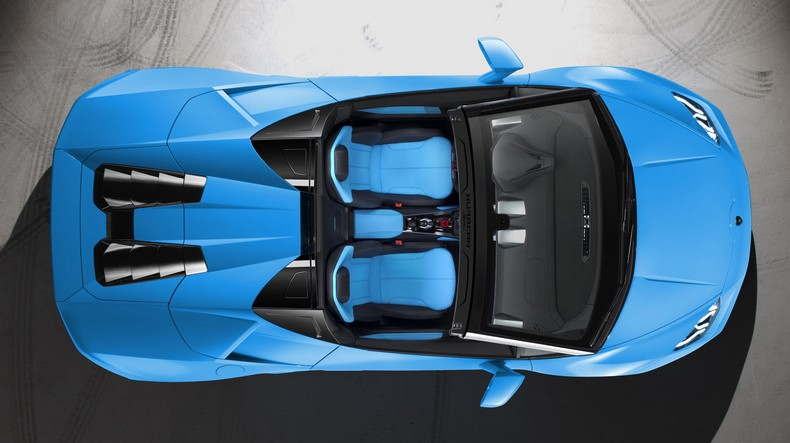 Lamborghini Huracan Spyder view from above