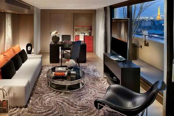Mandarin Oriental Paris Hotel Panoramic Suite Living Room photo 2