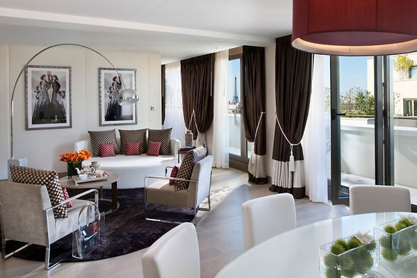 Mandarin Oriental Paris Hotel Panoramic Suite Living Room photo