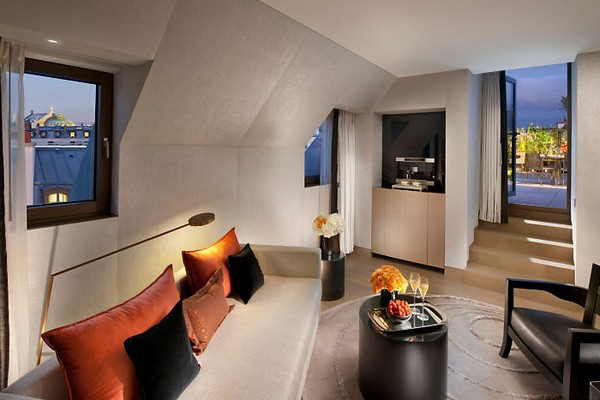 Mandarin Oriental Paris Hotel Terrace Suite Living Room photo 2