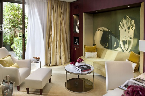 Mandarin Oriental Paris Hotel Terrace Suite Living Room photo