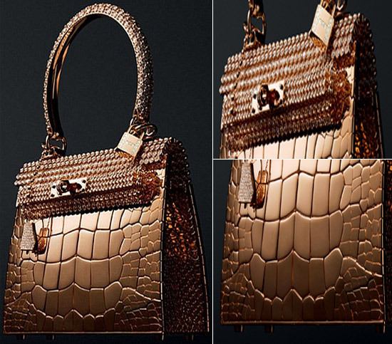 Most Expensive Purses in the World - 2. Hermes Birkin Gold Crocodile