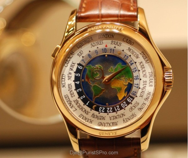 Patek Philippe's Platinum World Time -  million