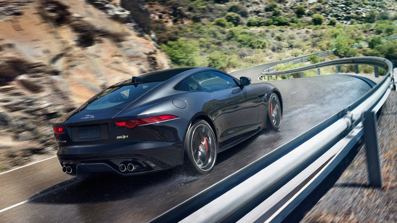 The 2016 F-TYPE R Coupe AWD in Storm Grey