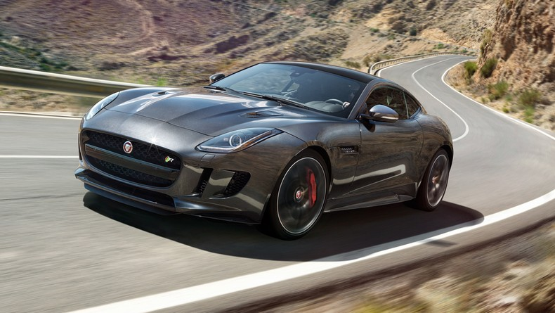 The 2016 F-TYPE R Coupe AWD shown in Storm Grey