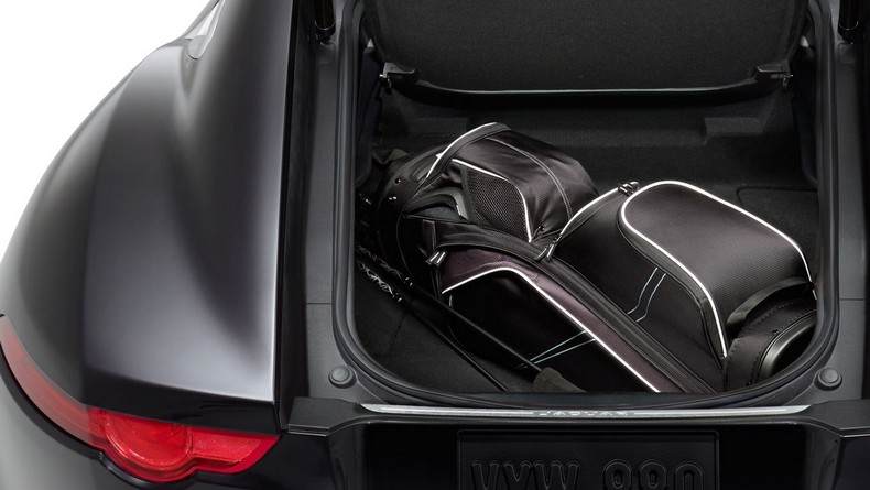 The F-TYPE Coupe features a versatile, roomy rear hatch with over 11 cubic feet of storage