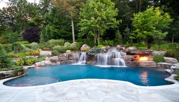 custom-volcanic-fire-pit-inground-swimming-pool-waterfall-ideas-nj