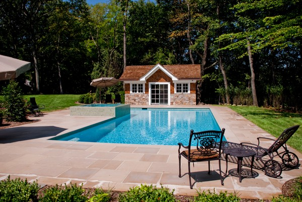 Luxury inground swimming pools by cipriano landscape for Pool design hamilton nj