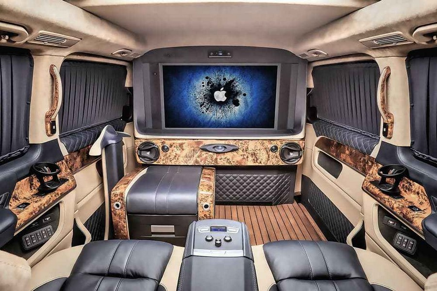 Russian Tuner REDLINE Engineering transform a Mercedes V-Class and a Sprinter into luxurious mobile offices