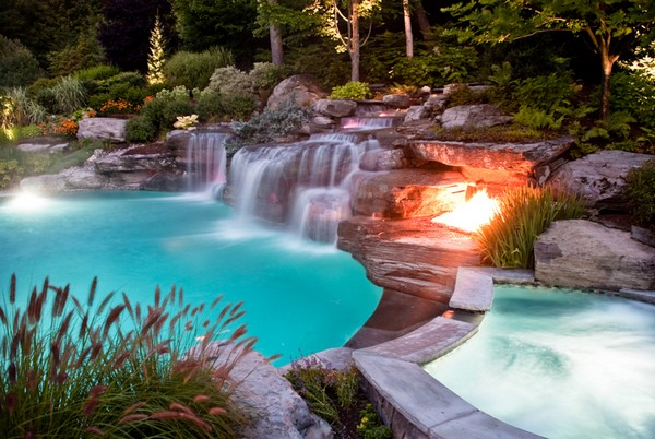 inground pools with waterfalls luxury inground swimming pools by cipriano landscape design luxury pictures 6231
